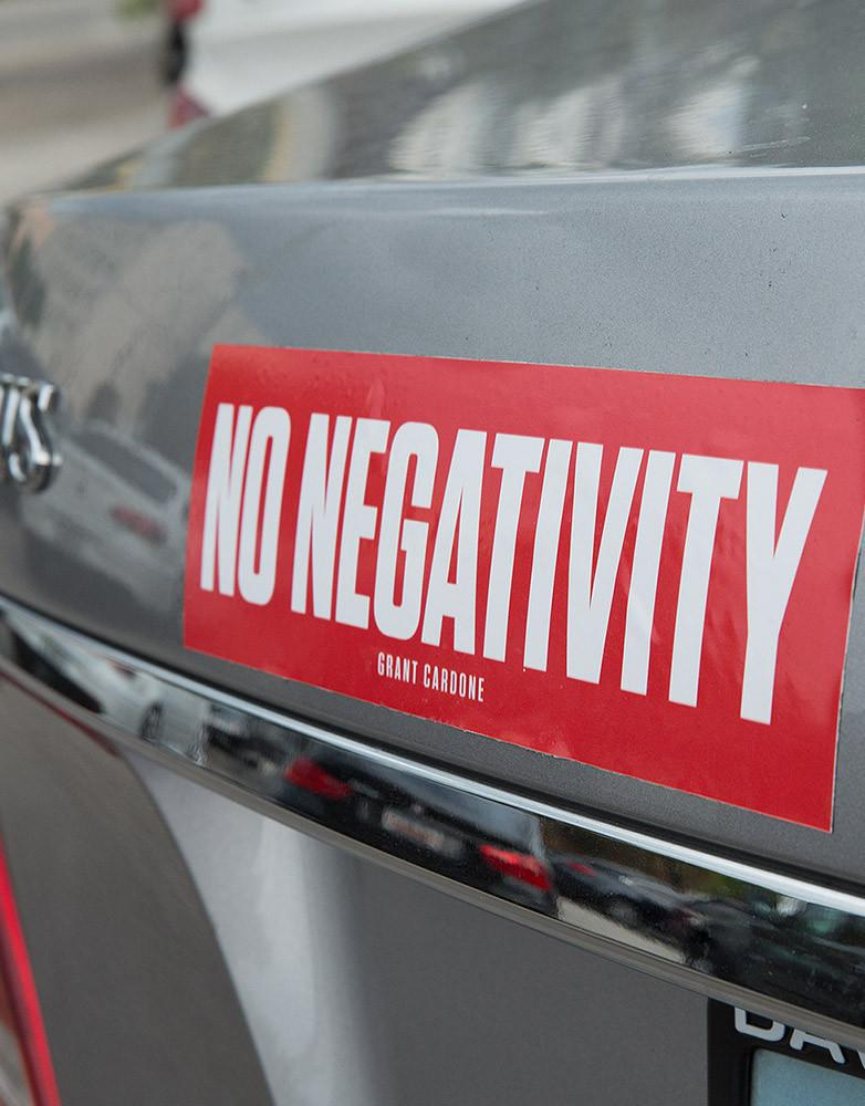 No Negativity Motivational Sticker Motivation, Adhesive