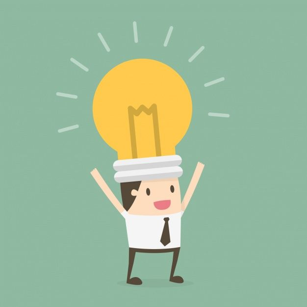 Download Businessman With A Bulb In The Head For Free In 2020 Corporate Training Character Flat Design Blended Learning