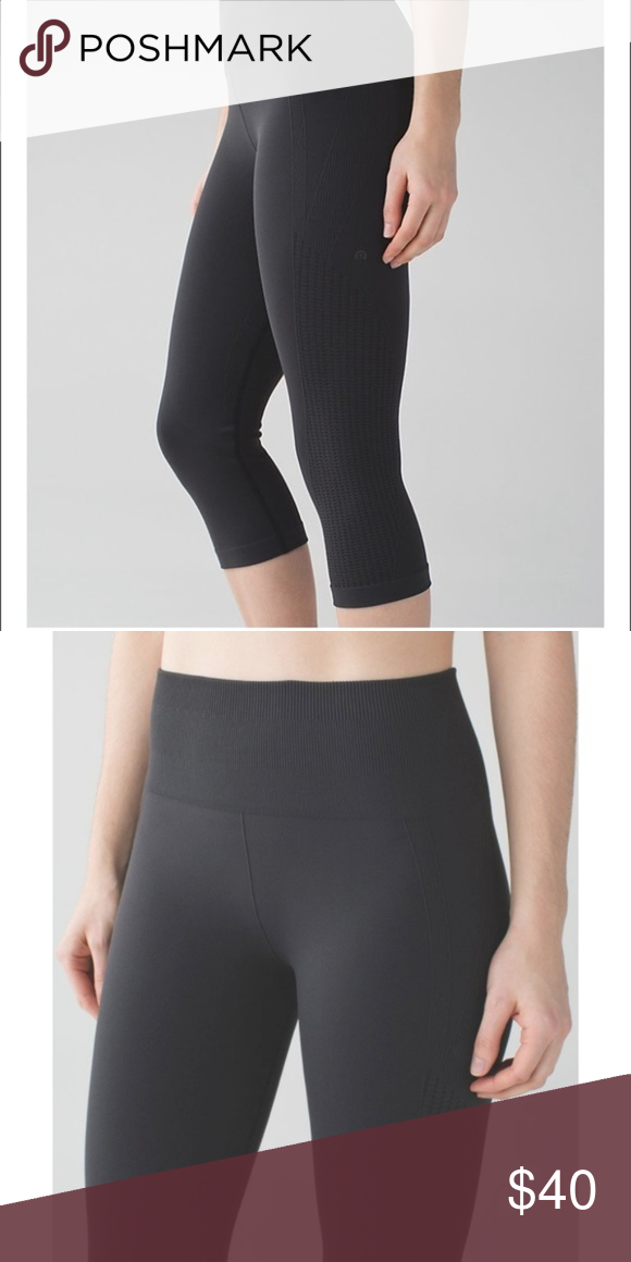 176f65c72 Lululemon Flow and Go Crop seamless yoga tights 2 We designed these no-fuss  crops to fit like a second skin so you can flow effortlessly from Power to  Yin.