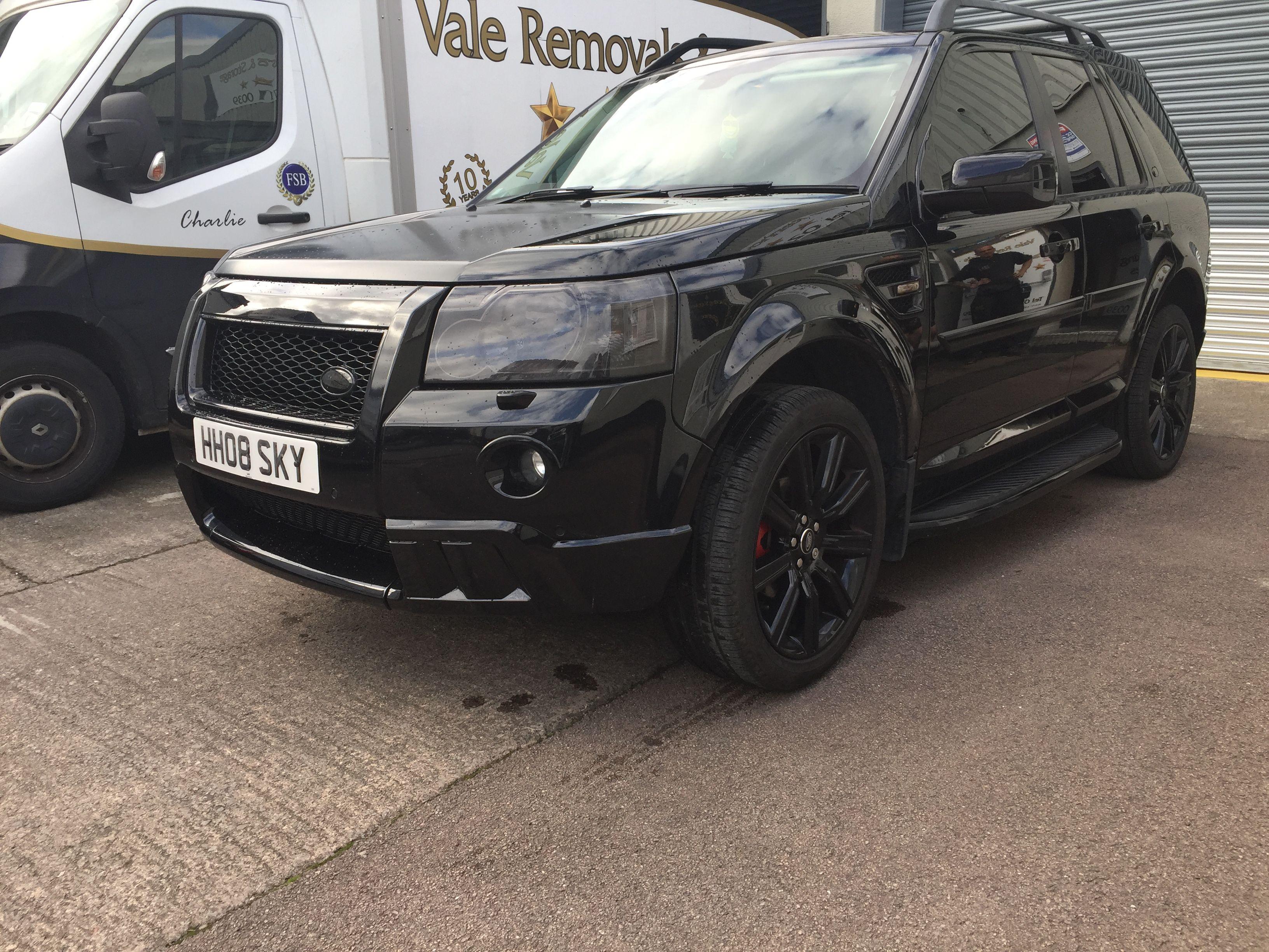 Landrover Freelander 2 All Black Kitted Up Body Kit Hst Matt Black Bonnet 1 Land Rover Range Rover Classic