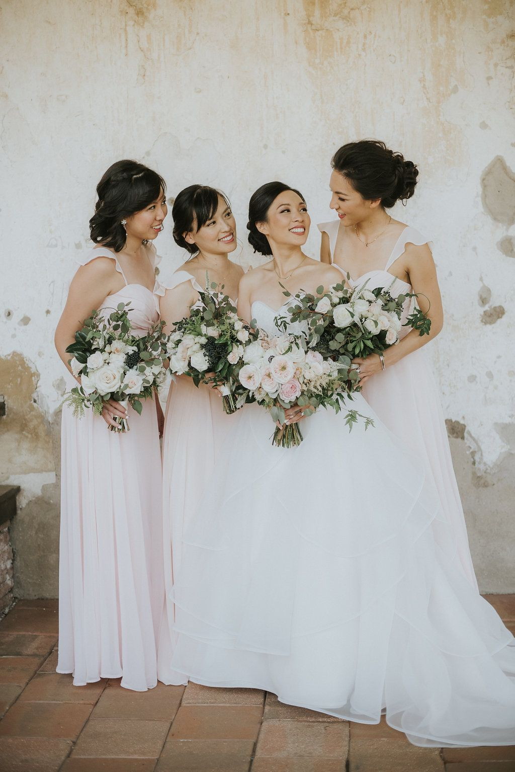 Blush pink bridesmaid dresses and bouquets franciscan gardens blush pink bridesmaid dresses and bouquets franciscan gardens orange county wedding jean ombrellifo Images
