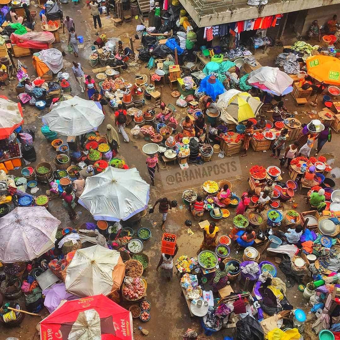 The Kumasi Central Market ( also known as Kejetia Market