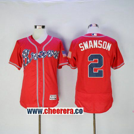 d5e989927 ... White Flex Base Authentic Collection Player Jersey 2 Mens Atlanta Braves  2 Dansby Swanson Red Stitched MLB 2016 Majestic Flex Base Jersey ...