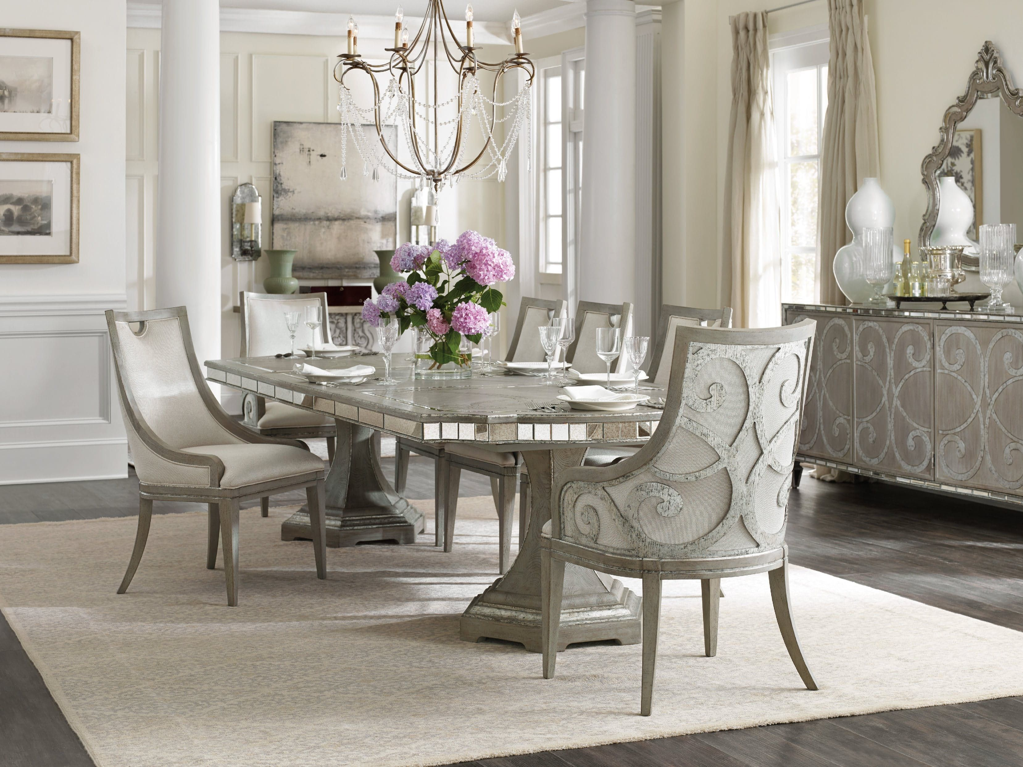 Hooker Furniture Dining Room Sanctuary Rectangle Table W 2 20in Leaves 5603
