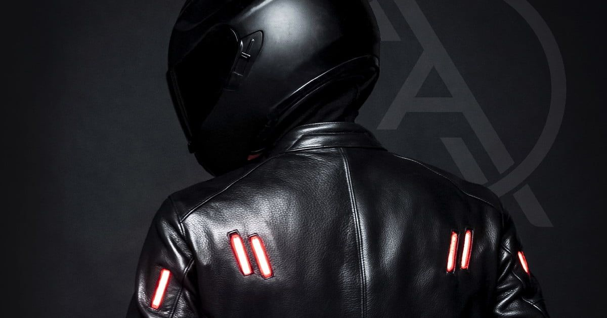 This Motorcycle Jacket Has Built In Lights That Sync With Your