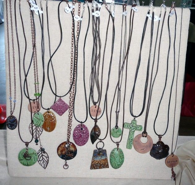 Diy Standing Necklace Display For Craft Shows Craft Show