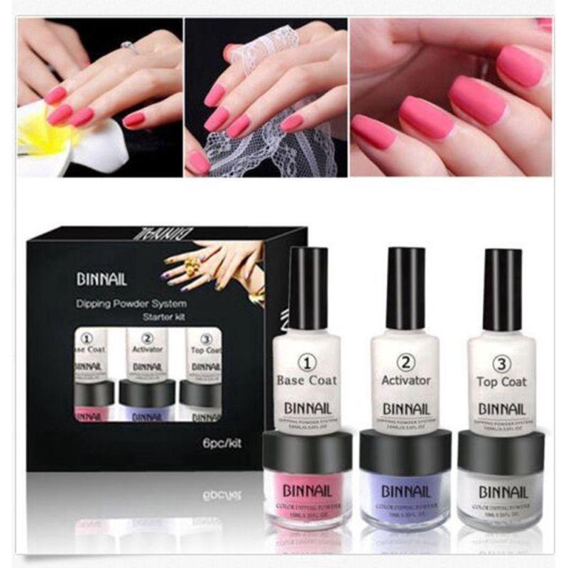 1pc without Cure Dip Powder Nails Healthy Nail Art Dipping Powder Tool EintauchpulverWerkzeugsätze ohne Aushärtung Eintauchpulvernägel Natürliche troc...