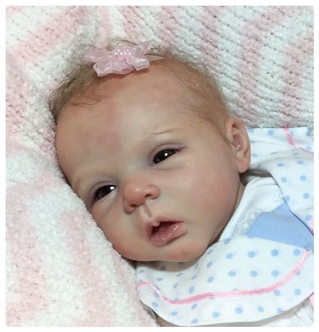 Lifelike / Fake Baby Doll Beautiful Carley Reborn LeLou By Evelina Wosnjuk