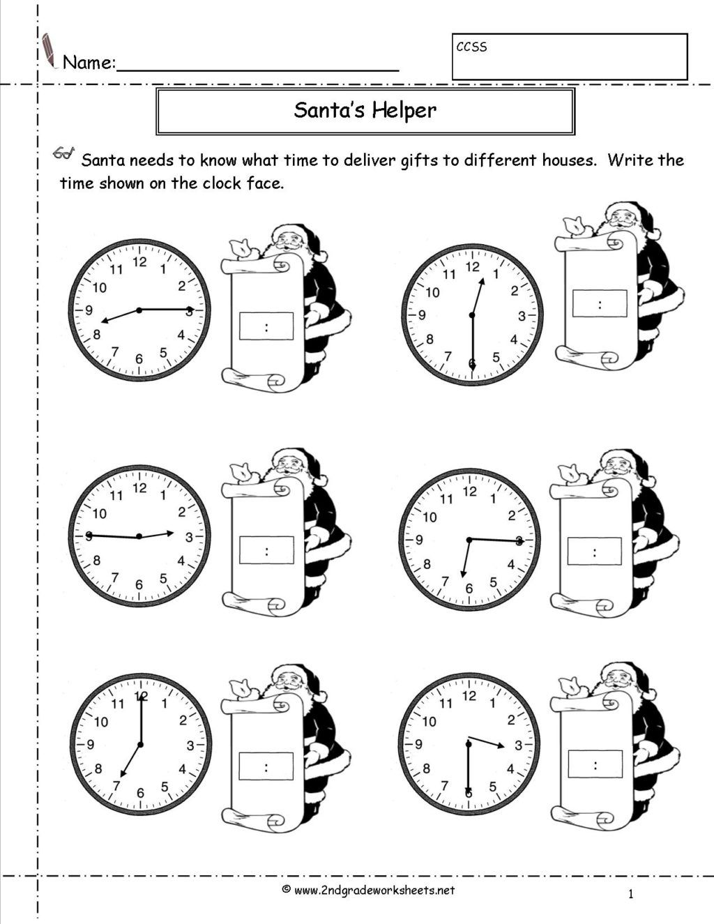 1st Grade Time Worksheets