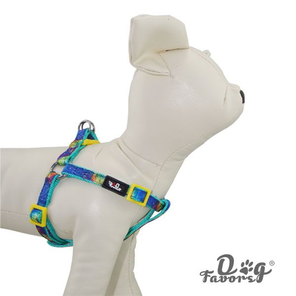 2015 new puppy cute dog green nylon harness with leash