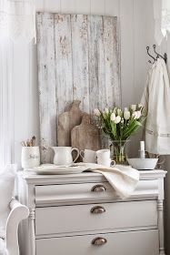Painted White Furniture - an all-white room with a splash of color - VIBEKE DESIGN