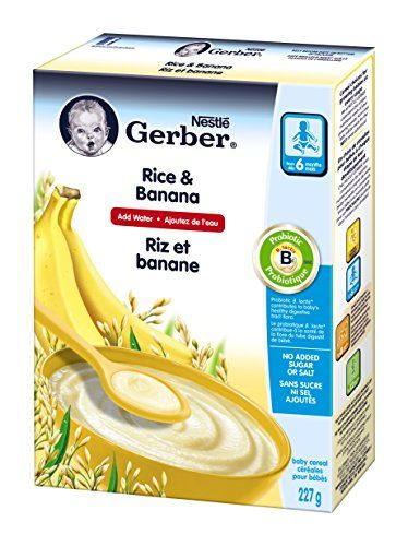 gerber rice banana cereal complete stage 2 227g box 6