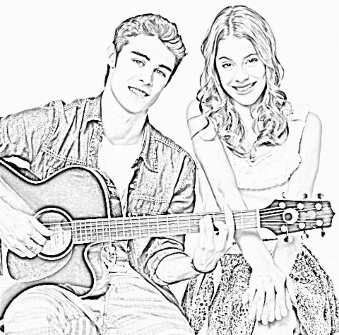 Coloriage Violetta disney chanel