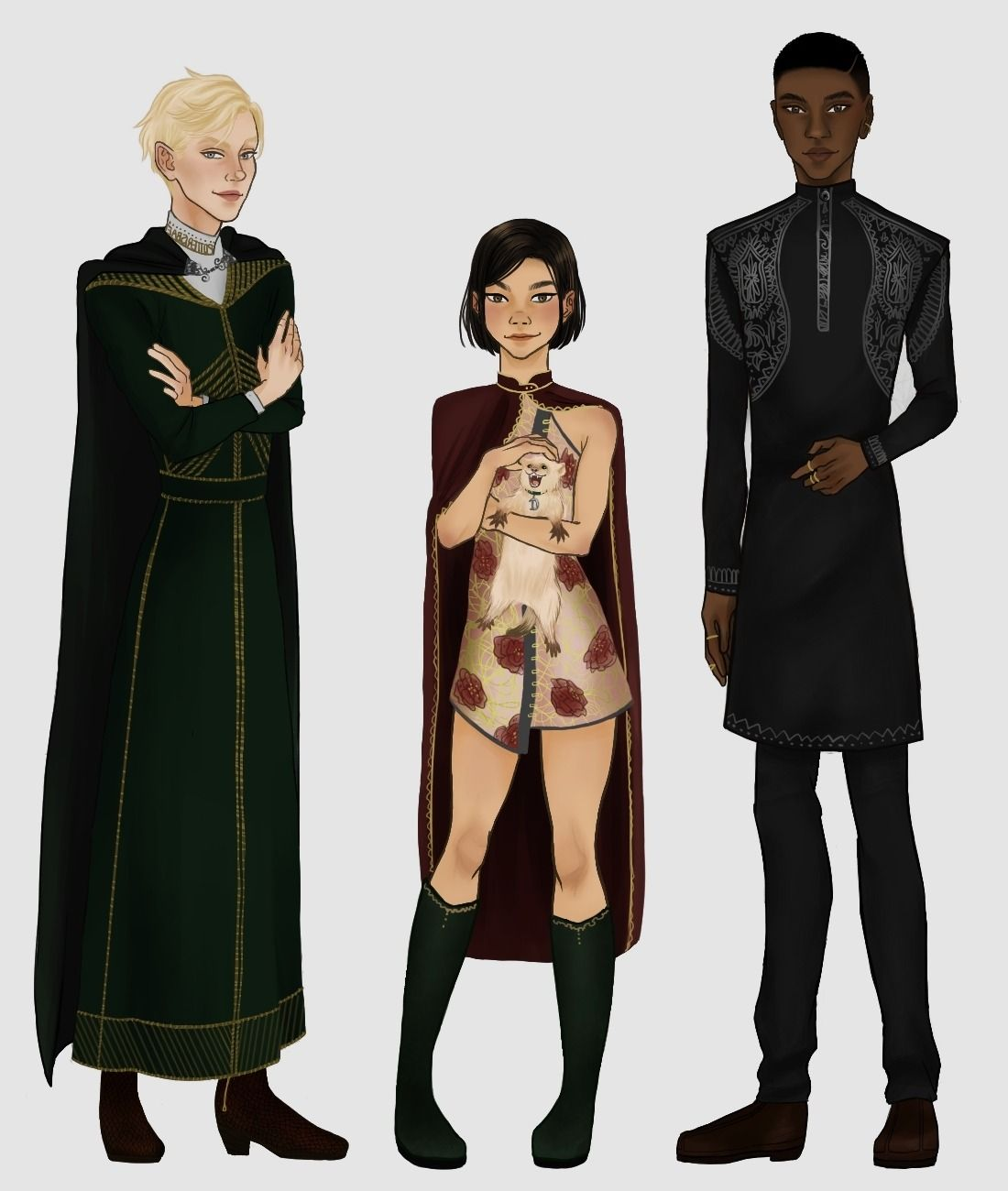 The Bronze Trio Did Pansy Get A White Ferret She Named Dray Just To Spite Draco 100 Harry Potter Artwork Harry Potter Drawings Harry Potter Pansy Parkinson
