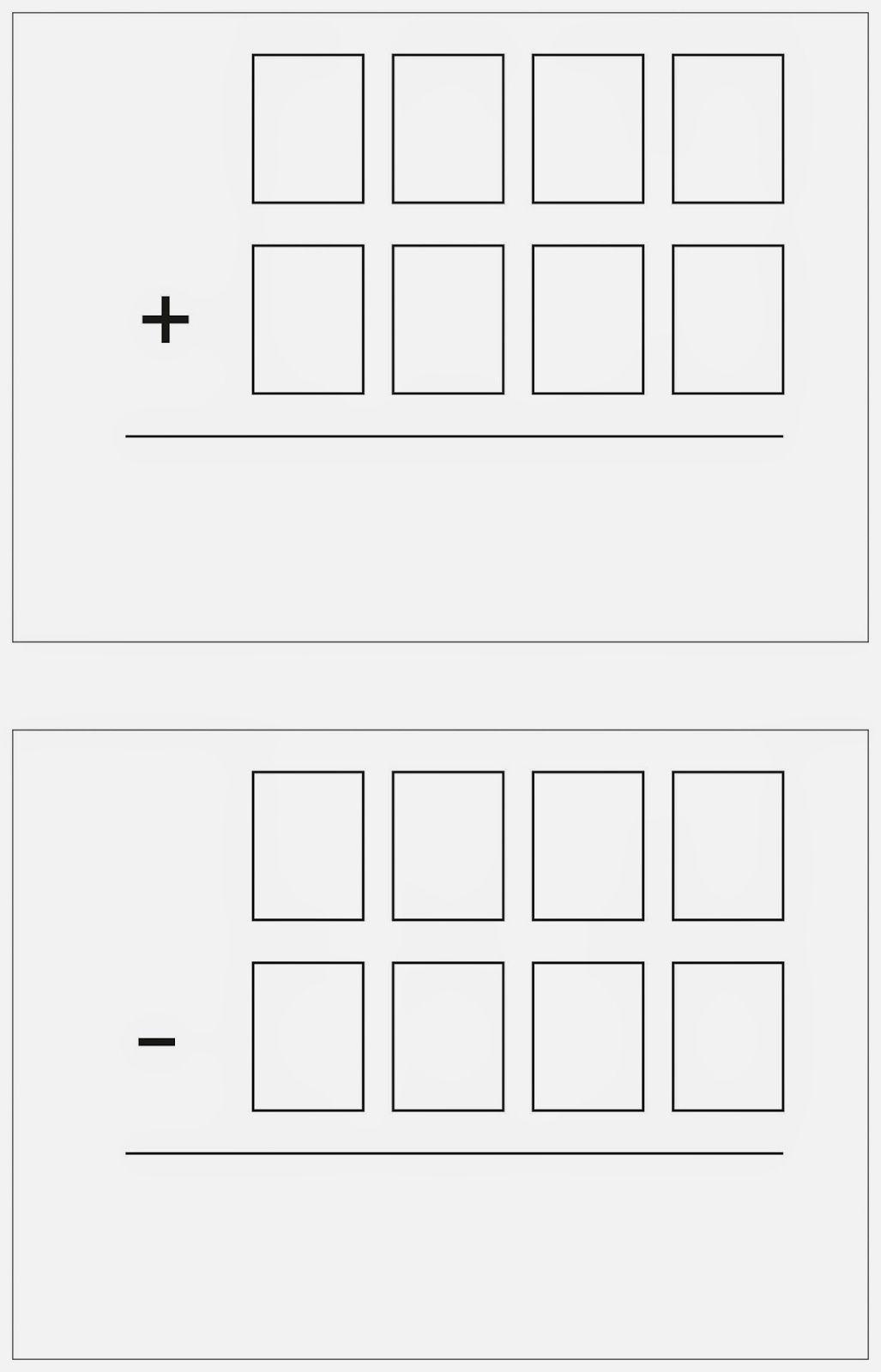 Schriftlich Addieren Und Subtrahieren Mit Ziffernkarten Schriftliches Addieren Lernen Addition Und Subtraktion