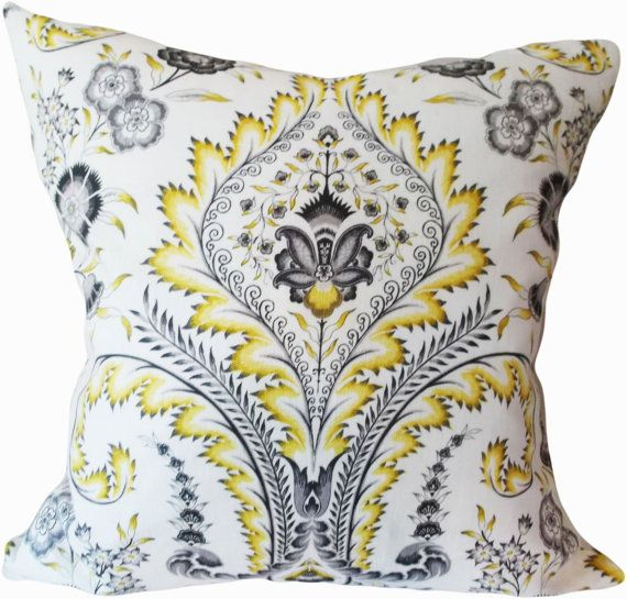 Waverly Damask Decorative Pillow Cover Williamsburg Throw Pillow Accent Pillow Both Sides 14 Decorative