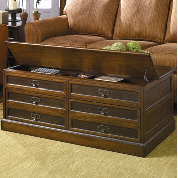 Hammary Mercantile Trunk Coffee Table with Lift-Top