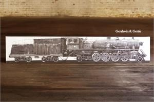 "Mason's Black and White Train: All Gershwin & Gertie's Oil Paintings are Hand Painted on a 1.5"" Thick Canvas with Finished Edges. FREE SHIPPING within the Continental United States"