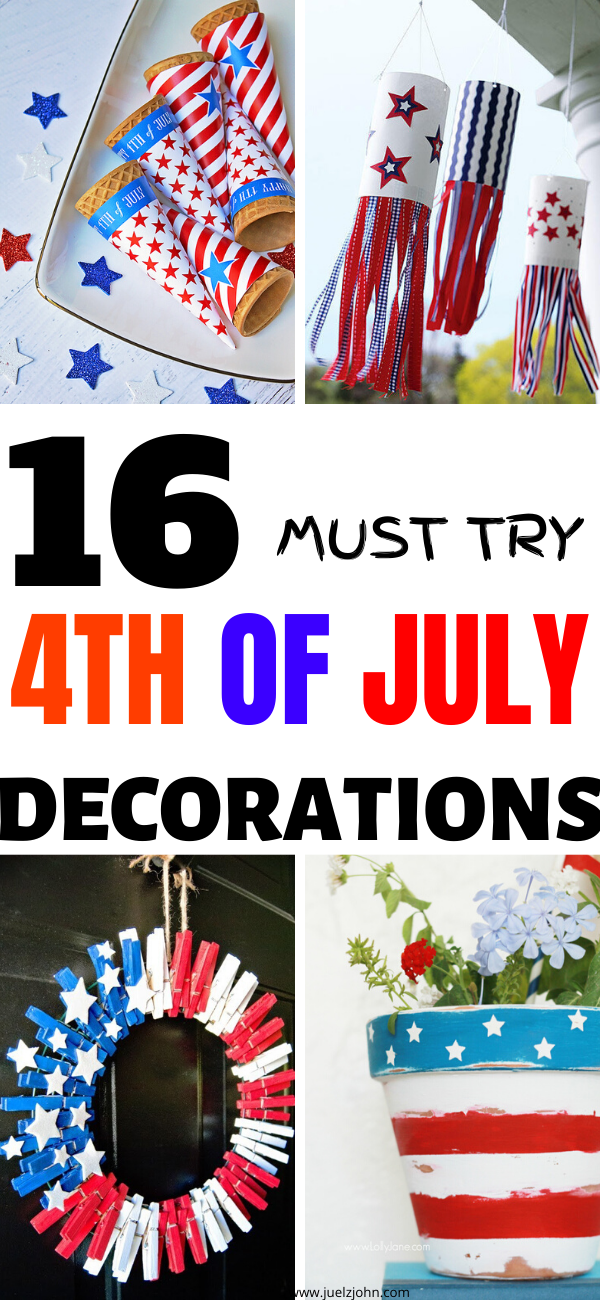 16 FESTIVE 4TH OF JULY DECORATIONS TO TRY THIS YEAR