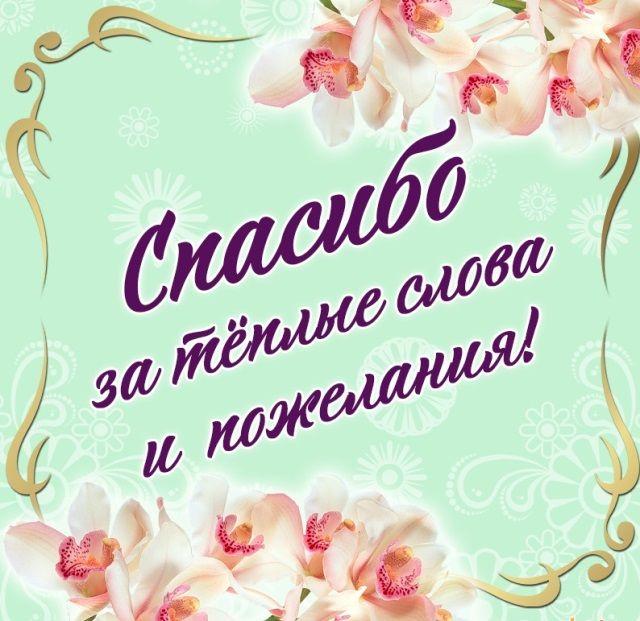 Kartinki Spasibo Za Pozdravleniya 48 Kartinok Birthday Wishes Thanks Card Cards