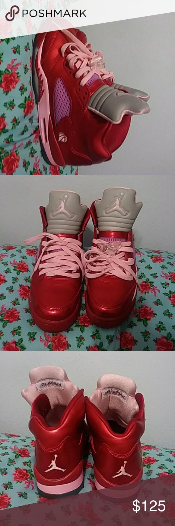 Nike Air Jordan Retro 5 Valentine S Day 100 Authentic Mens Size 6 5