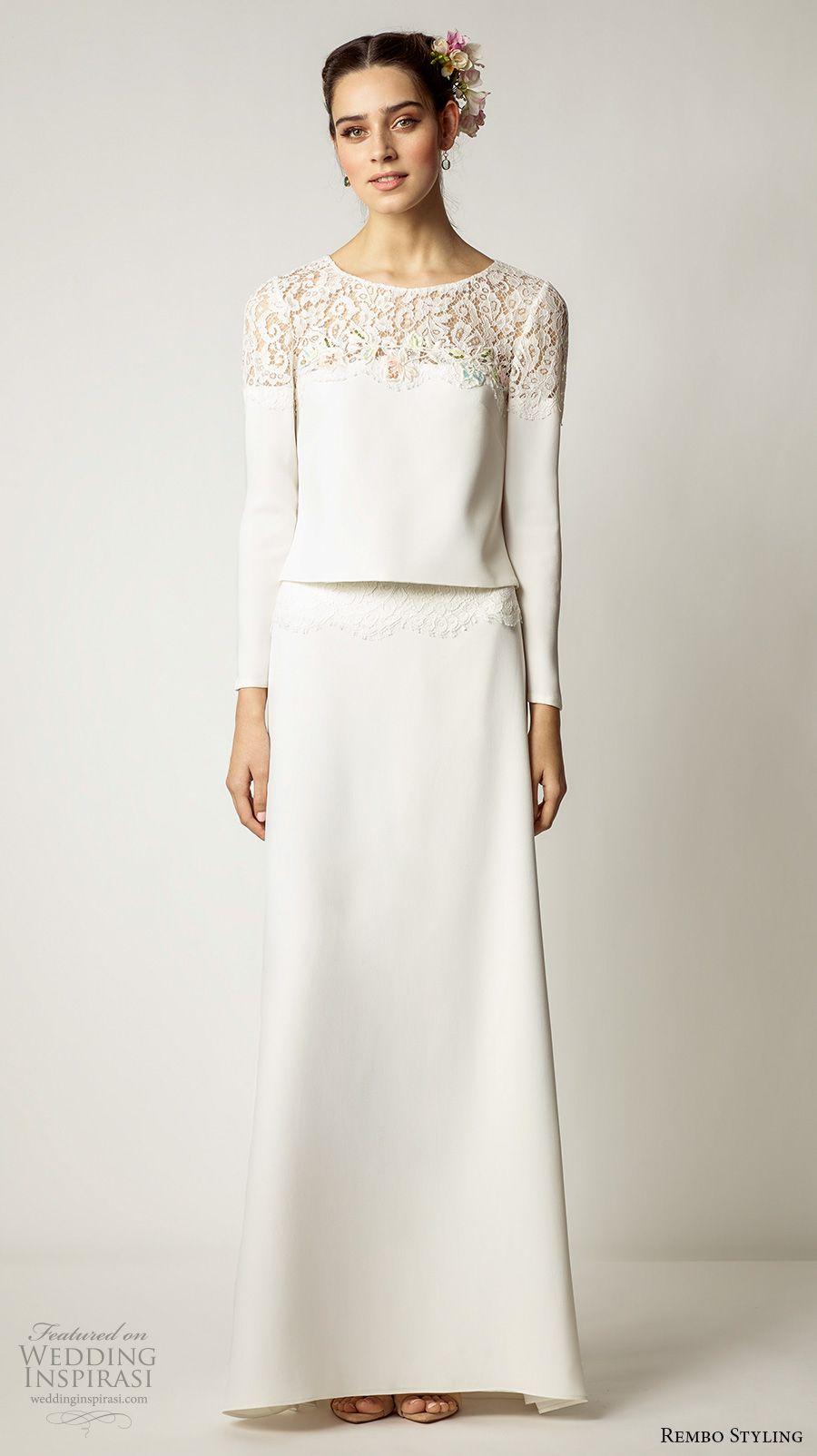 Rembo styling wedding dresses embellished top wedding dress