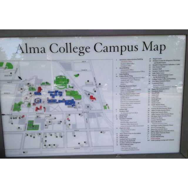 alma college campus map Alma College Map Alma College Campus Map College Campus alma college campus map