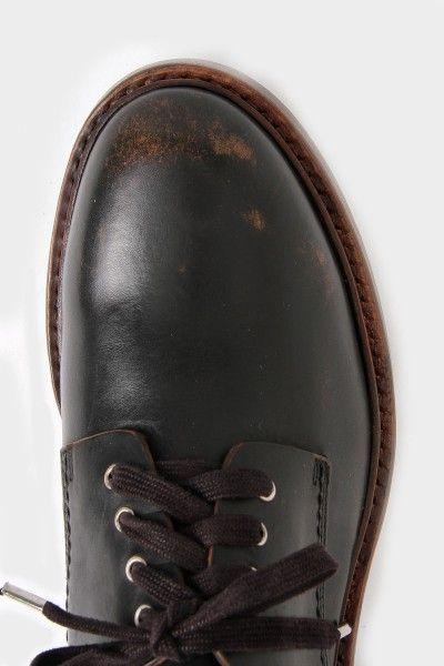 Buttero Scuffed Leather Round Toe Derby