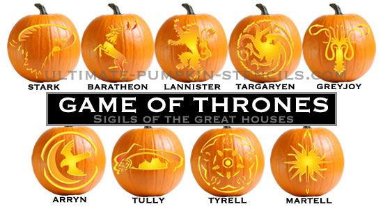 Game of thrones pumpkin pattern packages ultimate