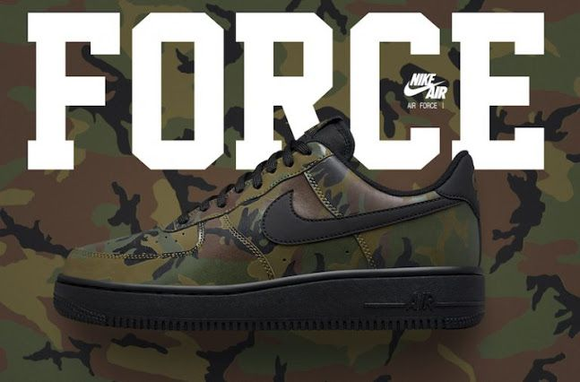 "Nike Air Force 1 Low ""Reflective Green Camo""  e0b205e0018d"