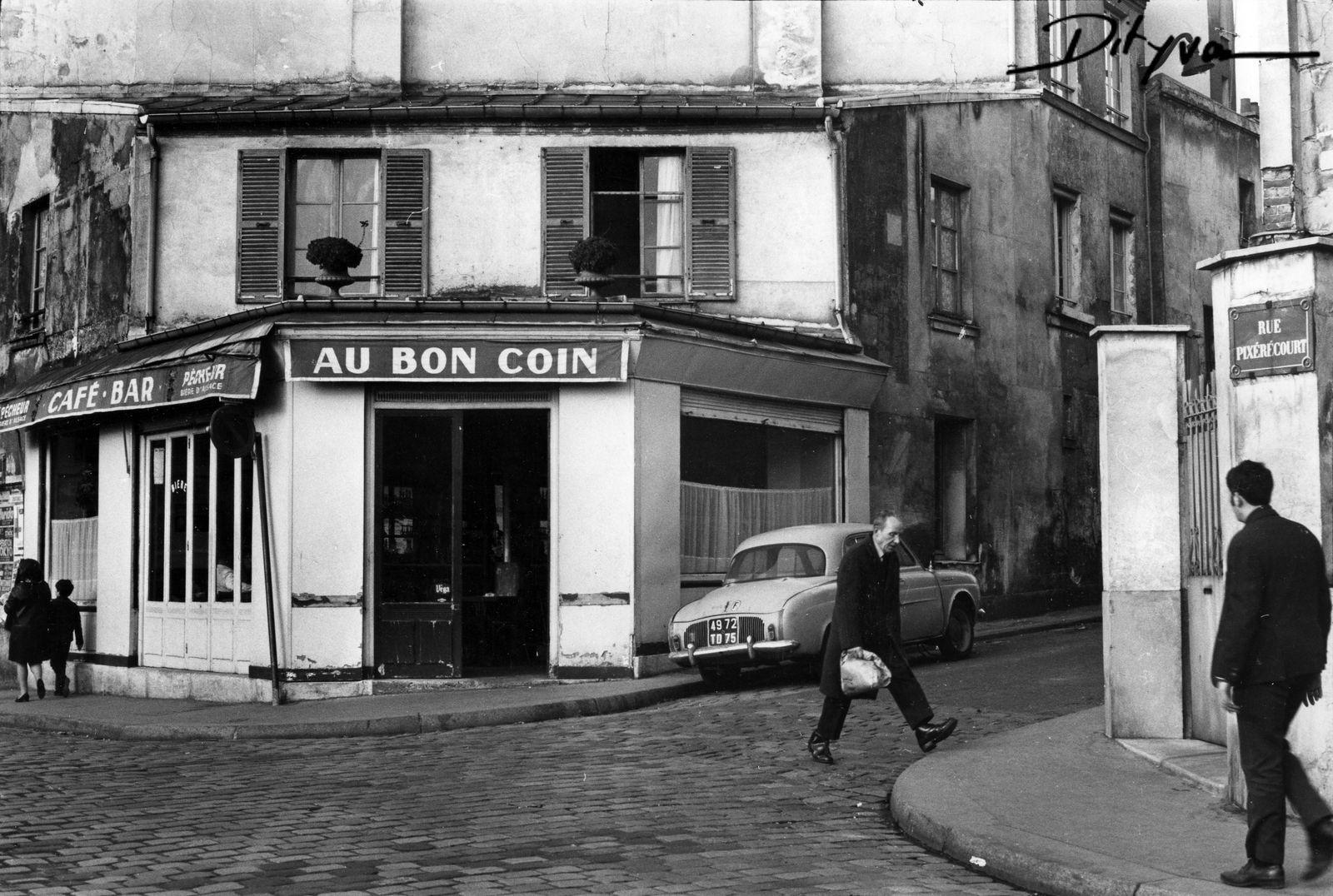paris 1967 rue pixericourt au bon coin photo claude dityvon paris 30 40 50 y 60s. Black Bedroom Furniture Sets. Home Design Ideas