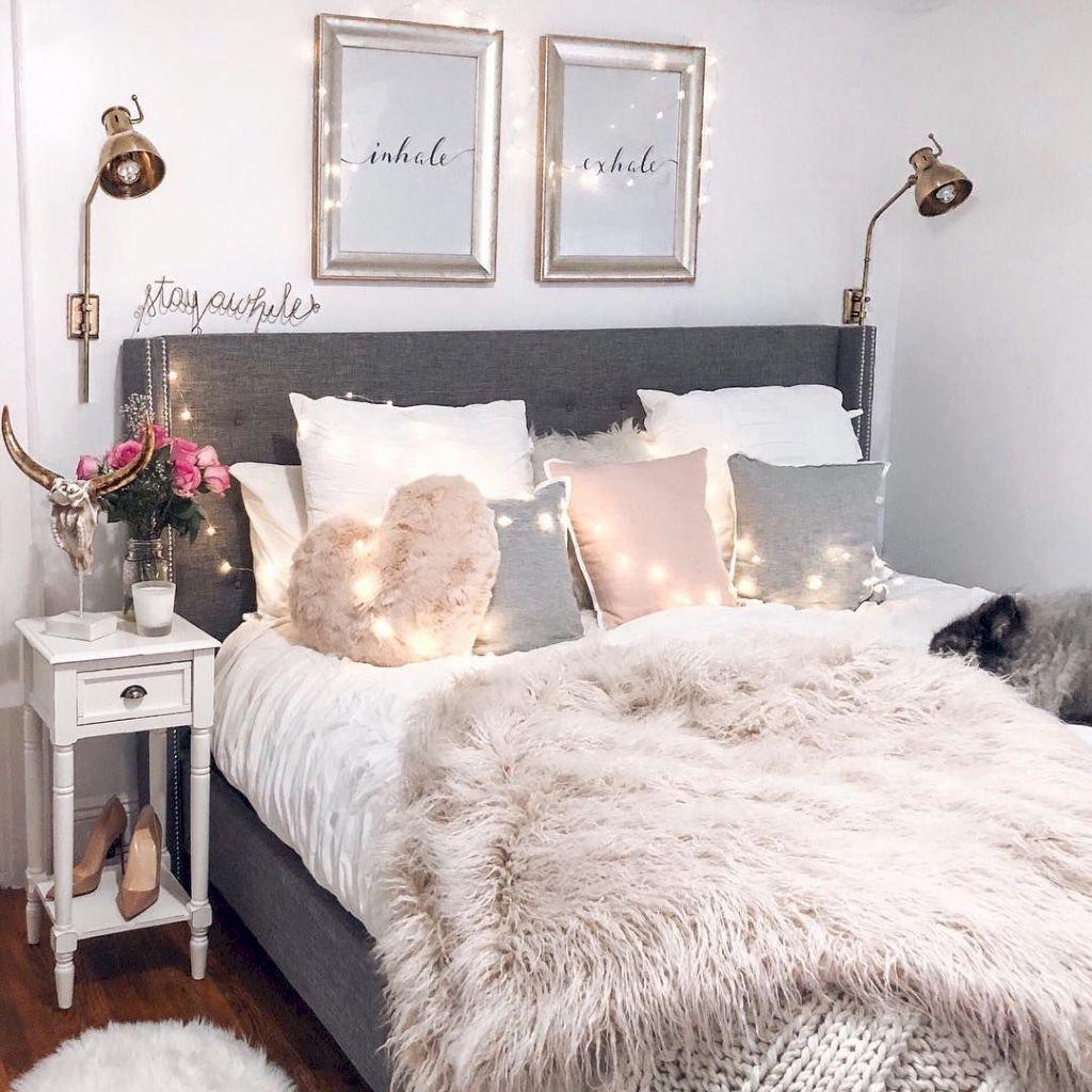 Cool 91 Elegant Comfy Bedroom Decorating Ideas Https://centeroom.co/91