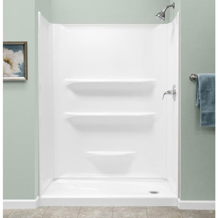 Style Selections Style Selections 54x27 White Acrylic Shower Base