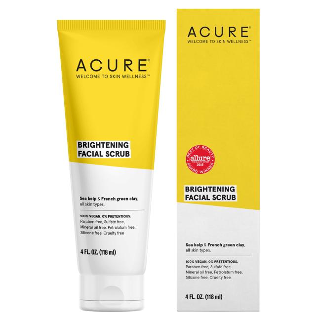 Acure Brightening Facial Scrub 4 Fl Oz Scrub In 2020