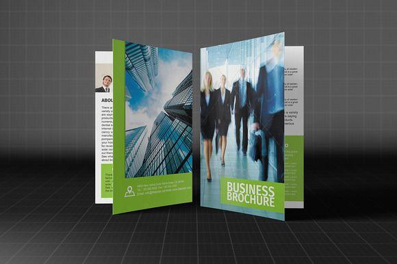 Bifold Corporate Brochure Template by Madhabi Studio on Creative