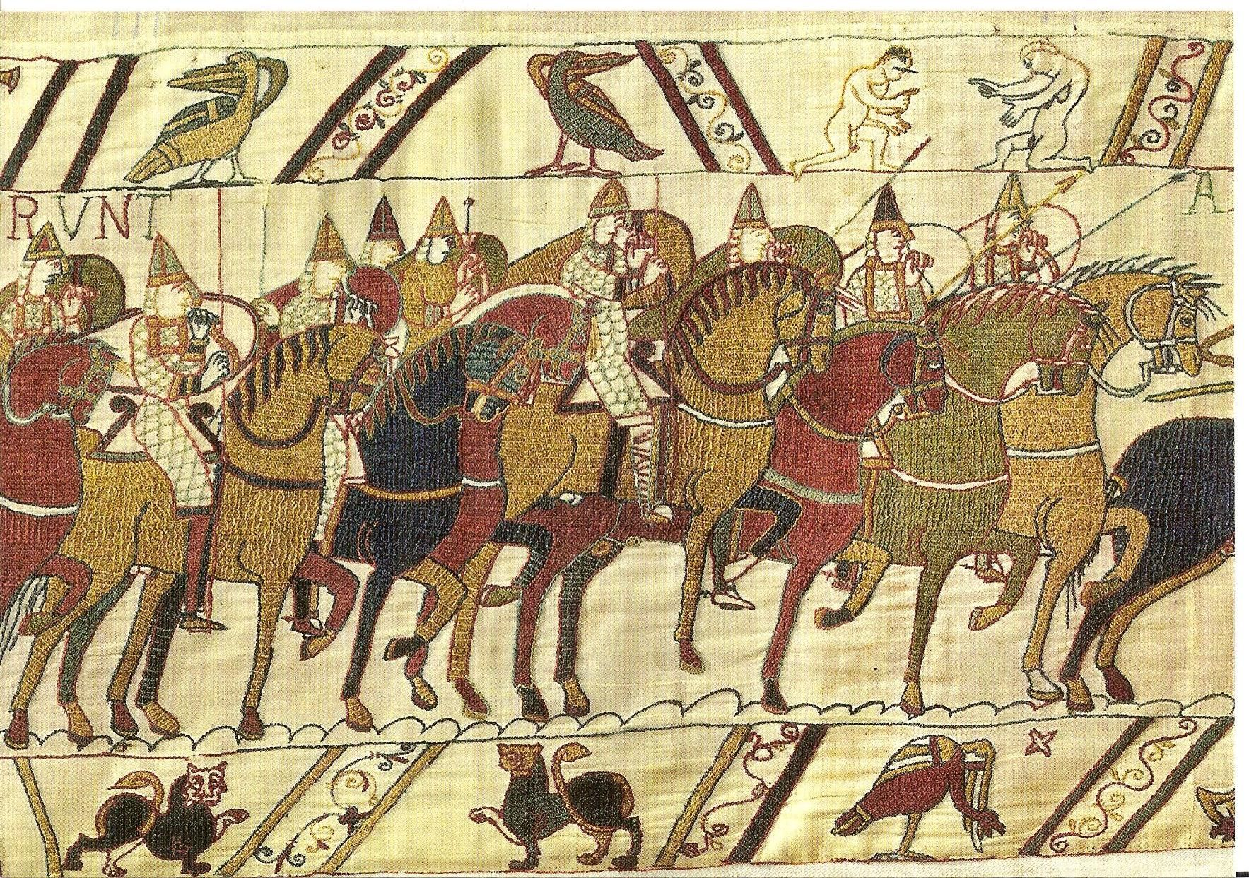 Teppich Von Bayeux Reading The Bayeux Tapestry Depicting The Battle Of Hastings And The