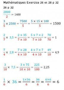 Multiplication de fractions | Fractions, Exercices ...