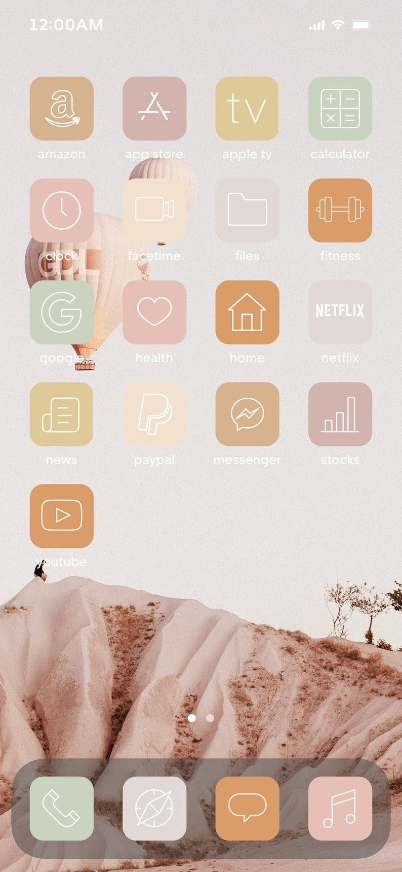 Pamper yourself with the aesthetic earth tone vibes with these high resolution 150 set of icons that are customized for your own preference. 20 Aesthetic iOS14 App Icons That'll Make Your Phone Feel ...