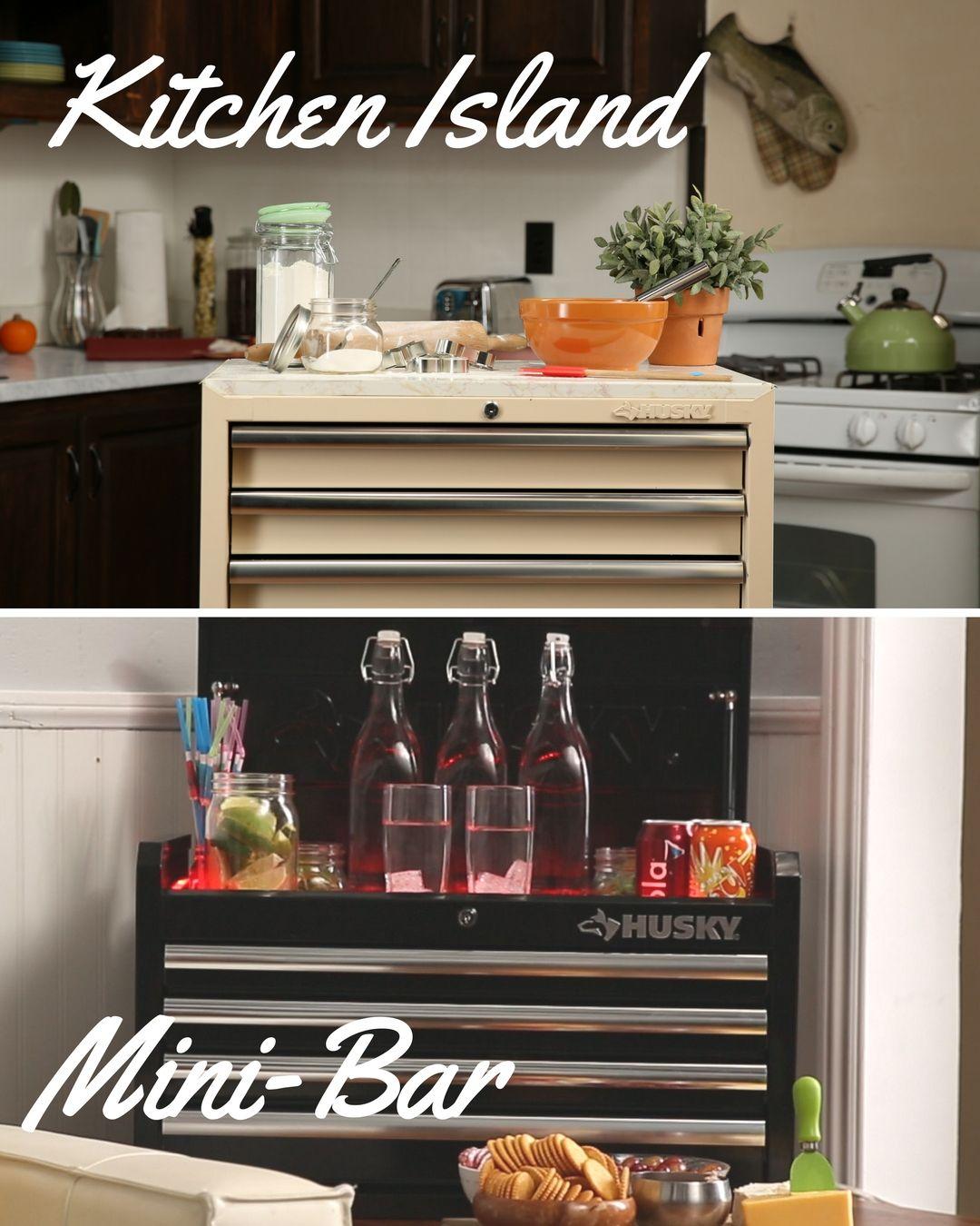 Kitchen Island + Mini-Bar