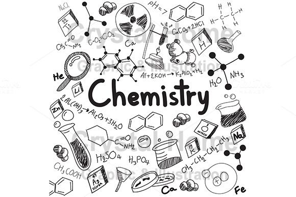 Chemistry education doodle icon @creativework247