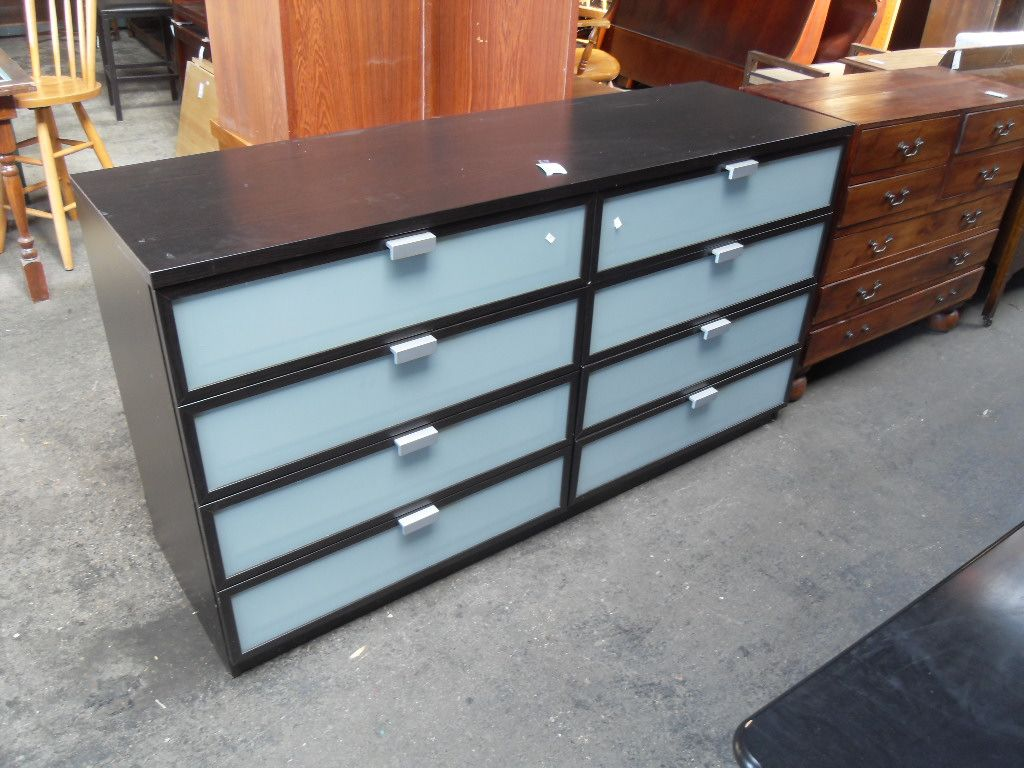 Frosted Glass Dresser Nice low 8 drawer dresser with frosted glass from  Ikea  In excellent. Frosted Glass Dresser Nice low 8 drawer dresser with frosted glass