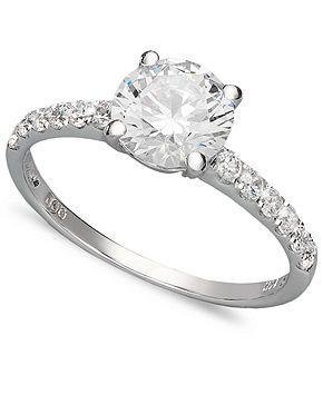Arabella 14k White Gold Ring, Swarovski Zirconia Wedding Ring (2-3/4 ct. t.w.) - Rings - Jewelry & Watches - Macy's