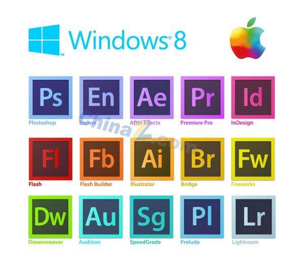 Win8 Design Software Logo Vector Vector Logo Adobe Software Vector Free