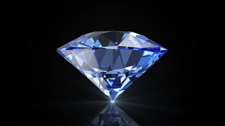 Shiny Blue Diamond 1080p Wallpaper Pietre Preziose Pietre Gemme