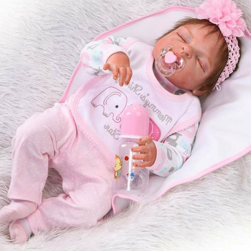 "Anatomically Correct Girl 18/"" Full Body Silicone Vinyl Reborn Baby Doll Lifelike"