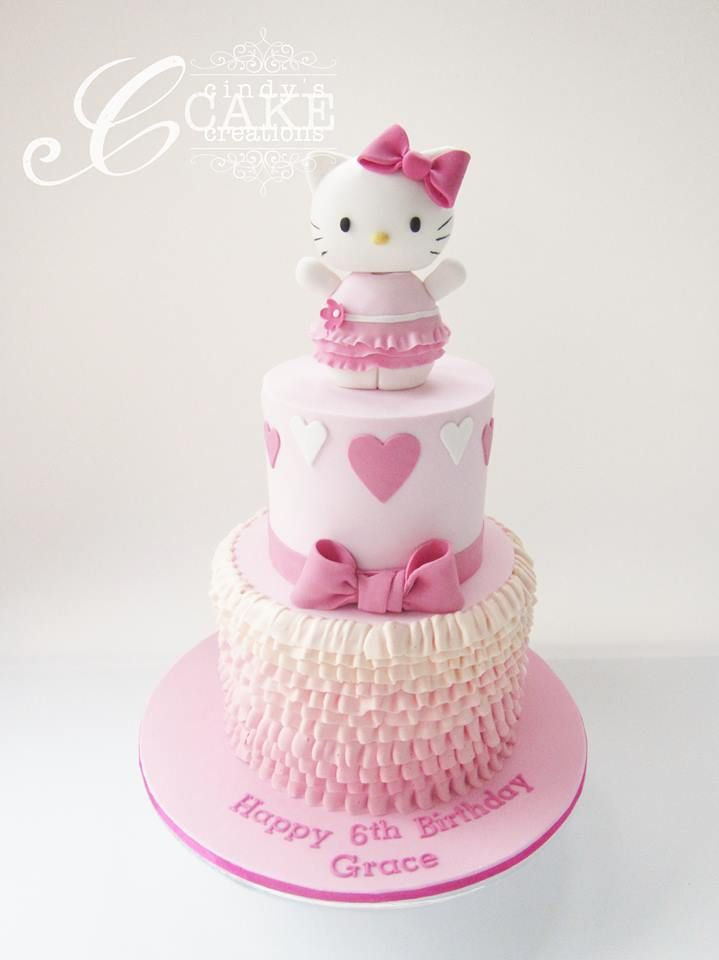 Pretty In Pink Hello Kitty Cake Kitty Cindy S Cake Creations Hello Kitty Birthday Cake Hello Kitty Cake Hello Kitty Cupcakes