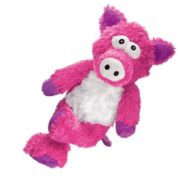 Kong Cross Knots Pig Plush Dog Toy Interactive Dog Toys Dog