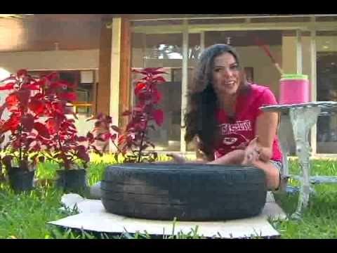 Patios y jardines macetas de llantas recicladas for Utilisima jardineria