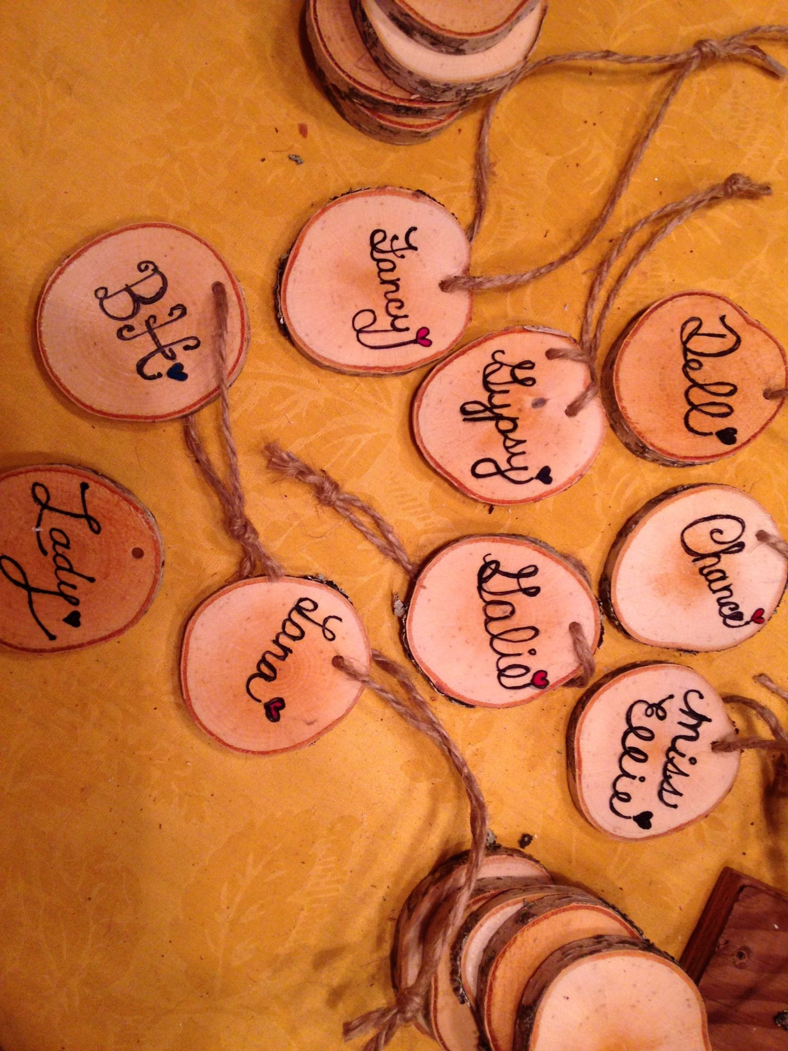 Each fur baby ornament has their name on the back. | Baby ...