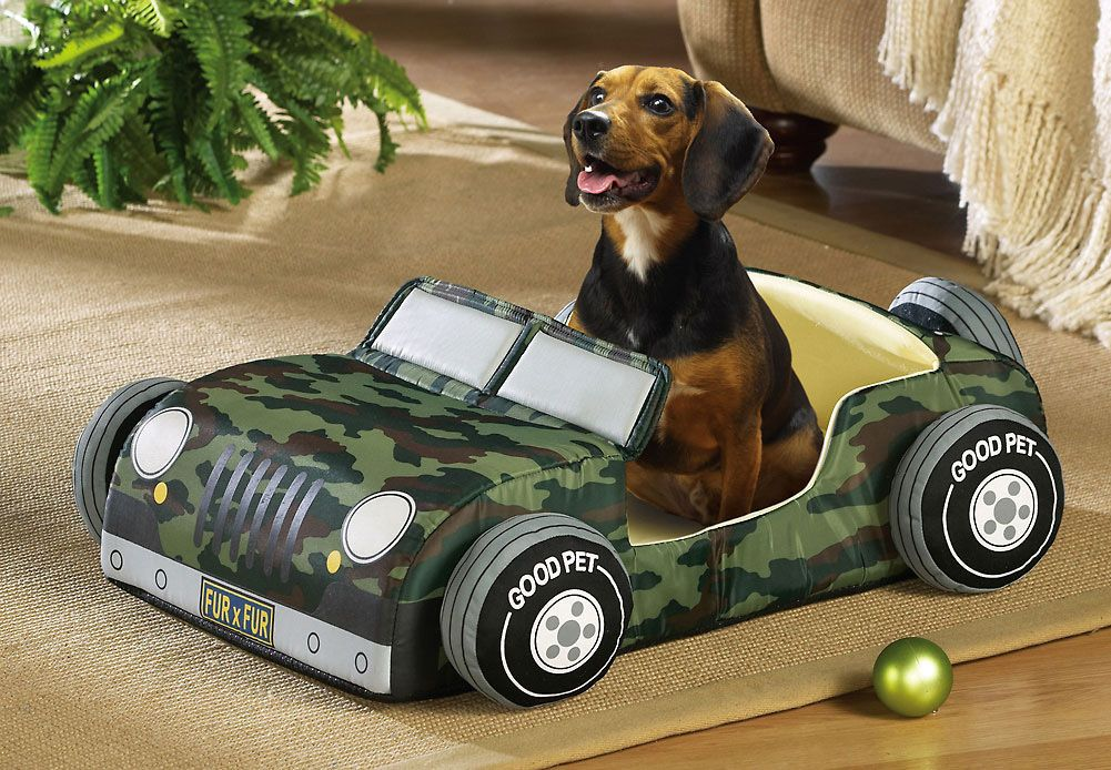 Camo Print Jeep Style Dog Puppy Pet Bed Just To Cute I Want To Get